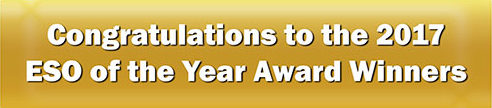 Congratulations to the 2017 ESO of the Year Award Winners