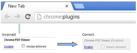 In how chrome pdf links to