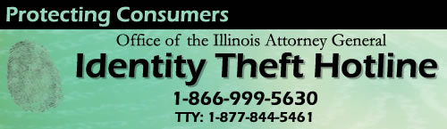 Identity Theft Hotline 1-866-999-5630